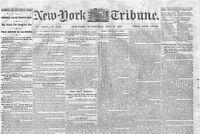 CIVIL WAR ORIGINAL 1864 NEWSPAPER, WINCHESTER REBEL RAID, GENERAL CROOK, ATLANTA