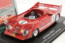SRC 00801 ALFA ROMEO 33TT12 TARGA FLORIO 1973 NEW 1/32 SLOT CAR IN DISPLAY CASE