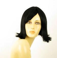 perruque femme 100% cheveux naturel noir ref EMY 1b