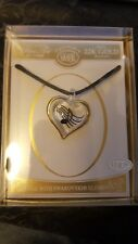 """GLASS BARON MUSICAL HEART NECKLACE ( 18 """" CHAIN )"""