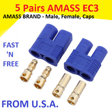 5 Pairs Amass EC3 Connector Plug for RC Car Plane Helicopter Battery Lipo ESC