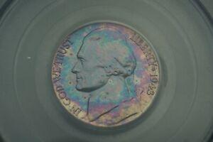 Rainbow Toned -- 1943-D 5c PCGS MS65FS Jefferson Nickel War Silver #RT21