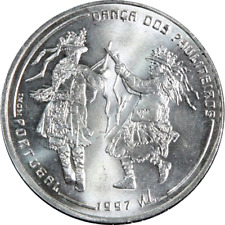 """Portugal - 1000 Escudos 1997 """" Pauliteiros Dancers """" Large Silver Coin - KM#704"""