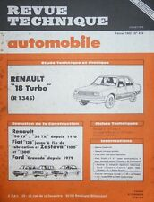 Revue technique RENAULT 18 TURBO ( R 1345 )  RTA 419 1982 + R30 FIAT 128 GRANADA