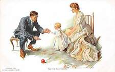 Signed Alonzo Kimball, c. 1910 Man & Woman with Child Taking First Steps