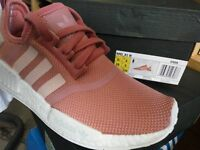 ADIDAS NMD R1 PINK RAW S76006 Raw Pink Rose Salmon Peach women shoes sales.