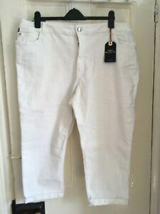 Monsoon Idabella Capri Trousers  - White -22