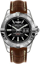 A49350L2/BA07-725P | BRAND NEW BREITLING GALACTIC 41 MENS WATCH W/ BROWN STRAP
