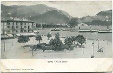 Primi '900 Como - Piazza Cavour - navi dest. Marseille FP B/N ANIM VG
