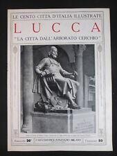 LUCCA ARBORATO CERCHIO TOSCANA LE CENTO CITTÀ D'ITALIA ILLUSTRATE cc3