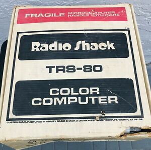 TRS-80 Color Computer Radio Shack Untested As Is Vintage With Cassette Recorder