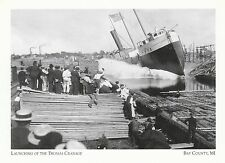 """+PC-Postcard-""""Launchng of Steamer Thomas Cranage"""" *Bay County, MI. (A320)"""
