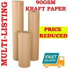 More details for strong brown kraft wrapping parcel paper packaging wrapping 90gsm free p&p