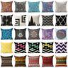Bohemian mandala cotton linen pillow case sofa waist cushion cover Home Decor