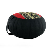 Zafu Meditation/Yoga Cushion with Carrying Handle - Black/Red/Black Ele (DM13)