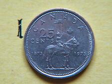 1973 Canada 25 Cents, Twenty Five Cent,Quarter mRoyal Mounted Police, RCMP