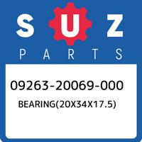 09263-20069-000 Suzuki Bearing(20x34x17.5) 0926320069000, New Genuine OEM Part