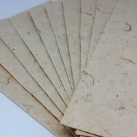 50x Mulberry Paper Sheets Handmade Natural Cream Invitation Card Art Craft A5