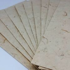 50x Mulberry Paper Sheets Handmade Natural Cream Invitation Card Art Craft A5