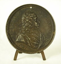 Médaille Flor Benedictus Averanius 1707 parit sapientia pacem 86mm fonte medal