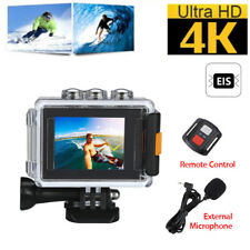 4K EIS WiFi HD Pro Sport Action Camera Video Vlog Waterproof +Mic+Remote Control
