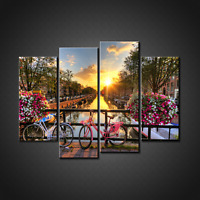 AMSTERDAM NETHERLANDS CANVAS PRINT PICTURE WALL ART HOME DECOR FREE DELIVERY