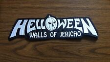 HELLOWEEN,WALLS OF JERICHO,SEW ON WHITE EMBROIDERED LARGE BACK PATCH