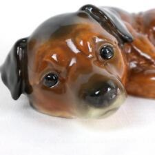 Rare Vintage 80s Goebel W Germany Alsatian German Shepherd Puppy Dog Laying Down