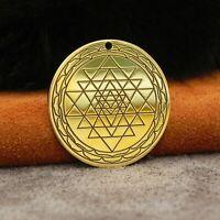 Sri Yantra pendant - Brass, Yoga necklace, Yantra jewelry, talisman, amulet