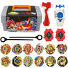 12PCS Beyblade Burst Spinning W/ Grip Launcher + Portable Box Case Toy Xmas Gift