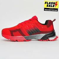 Fit Well Encore Mens Gym Jogging Sports Fitness Walking Trail Trainers Red