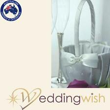 Flowergirl Basket - Platinum by Design Silver Wedding Flower Girl Basket