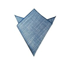 S Design Navy Blue Linen Pocket Square Mans Hankerchief
