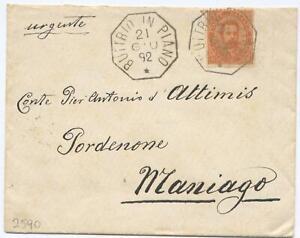 """""""BUTTRIO IN PIANO"""" COLLETTORIA ottagonale 1892 per Maniago - (5118)"""