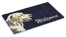 "Vinyl Backed Labrador Printed Coco Doormat 0.5"" Thick - 18 by 30-Inch"