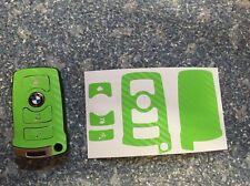 Carbon Grün Schlüssel Folie BMW Key E67 5er E67  6er 7er E65 E66 E M 3 Tasten