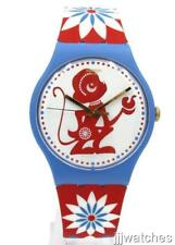 New Swatch Lucky Monkey Chinese New Year 2016 Multicolor Watch 42mm SUOZ203 $80