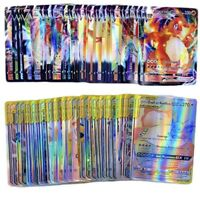 lot 100 carte pokemon Francais BRILLANTE , V, Vmax ,Gx , NOUVEAU 2021