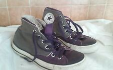 Ladies converse size 5 used purple and grey hi tops