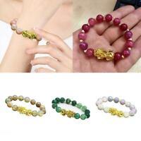Pixiu Chinese Good Lucky Charm Wealth Bracelets Jade Jewelry Gifts