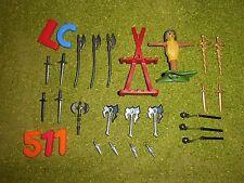 LOTE PLAYMOBIL ARMAS, OFERTA, lot d'armes, des épées, des haches, offre,LOTE 511