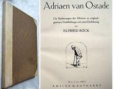 ADRIAEN VAN OSTADE - Die Radierungen in originalgetreuen Nachbildungen - 1923