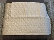 Royal Velvet Quilted King Pillow Sham 21�x37� Linen