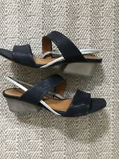 Coclico Onshore Navy/silver Sandals Slingback 38.5