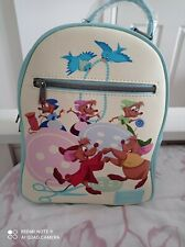 More details for disney loungefly cinderella gus and jaq backpack new