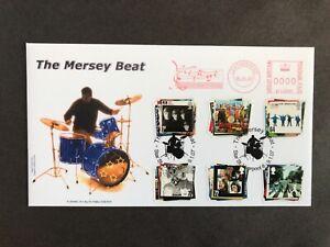The Beatles (6v) Sheridan Produced 2007 FDC Making Music Meter Mark + SHS