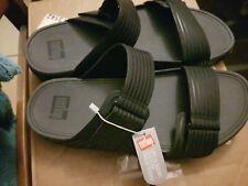 Fitflops Unisex Black Sandals Womens 10 Mens Sz 8