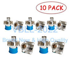 10x N-Type Female to BNC Jack 4 Hole Flange Panel Mount Coax Adapter Connector