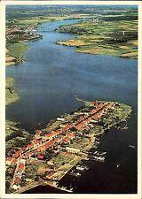 ARNIS Schleswig Holstein vom Flugzeug aus Luftaufnahme Luftbild-AK gelaufen