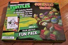 Teenage Mutant Ninja Turtles Pop-Outz! Fun Pack 12 Coloring Boards Markers